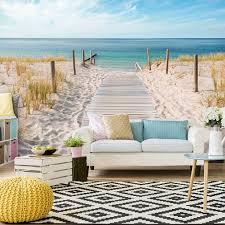 vlies fototapete strand meer tapeten wohnzimmer wandbild