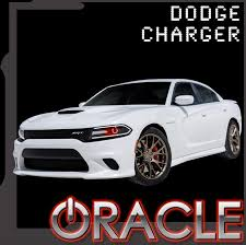 2015 2016 dodge charger led projector headlight halo kit by oracle