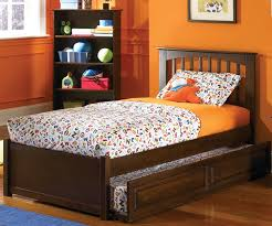 Brooklyn Twin Size Trundle Bed Antique Walnut