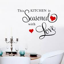 Fashion New PVC Home Decor Removable Decal This Kitchen Seasoned Letters Vinyl Wall Quotes
