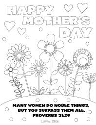 Download Mothers Day Coloring Page PDF
