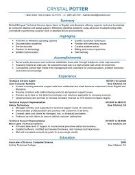 Front Desk Agent Resume Template by Best Bilingual Technical Service Agent Resume Example Livecareer