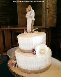 This Cake Was For A Smaller Wedding That Took Place Outdoors With Reception In Remodeled Barn It An Absolutely Gorgeous Venue And Simple