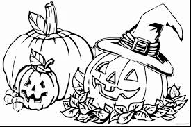 Astonishing Fall Pumpkin Coloring Pages Printable With Make Your Own And