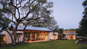 Texas Ranch House Local Limestone Ties Together On Spanish Style