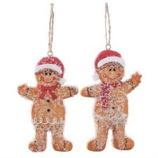 Christmas Tree Toppers Uk by Mr U0026 Mrs Gingerbread Man Hanging Christmas Tree Decorations U2013 The