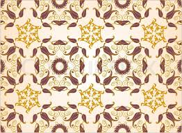 Old Lux Art Silk Leaf Brown Curve Tiled Retro Wealt Swirl Style Royal Carpet Damask Flower Vector Fabric Design Plants Ornate Foliage