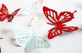 Paper Butterfly Monarch Wall Sticker Janniecut