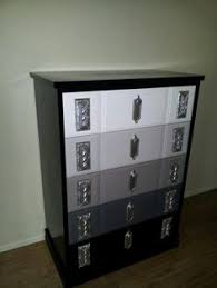 Black Dresser 5 Drawer by 8 Drawer Dresser Newly Painted With A High Gloss White Two