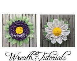 Gerber Daisy Tutorial Dahlia DIY Wreath Video Petal Front Door