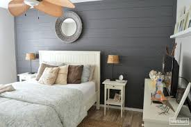 DIY Shiplap Bedroom Wall