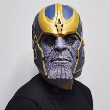 Avengers Thanos Mask Avengers Halloween Costume MerchVaultcom