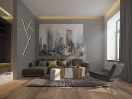 canapé gris taupe couleur gris taupe bois massif et déco géométrique