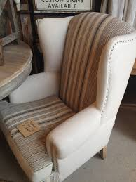 Pottery Barn Napoleon Chair Slipcover by Grain Sack Upholstered Wingback Chair I Have The Perfect Space