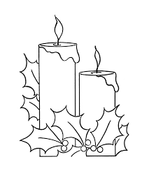 Two Christmas Candles And Holly