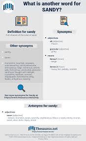 Synonyms For SANDY Antonyms For SANDY Thesaurusnet
