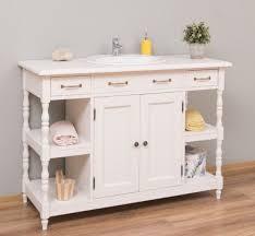 casa padrino landhausstil waschtisch weiß 128 x 54 x h 91 cm massivholz waschbeckenschrank landhausstil badezimmer möbel