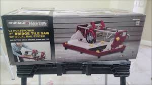 Tile Nippers Harbor Freight by Harbor Freight Bridge Tile Saw From Chicago Electric Review
