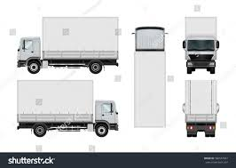 100 Truck Top Vector Mockup Isolated Template Box Stock Vector Royalty Free