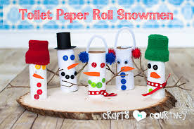How To Craft A Toilet Paper Roll Snowman