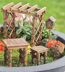 Outdoor Miniature Garden Fairy Ivy Furniture Set