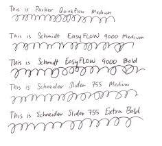 Parker G2 Style Ballpoint Refill Comparison