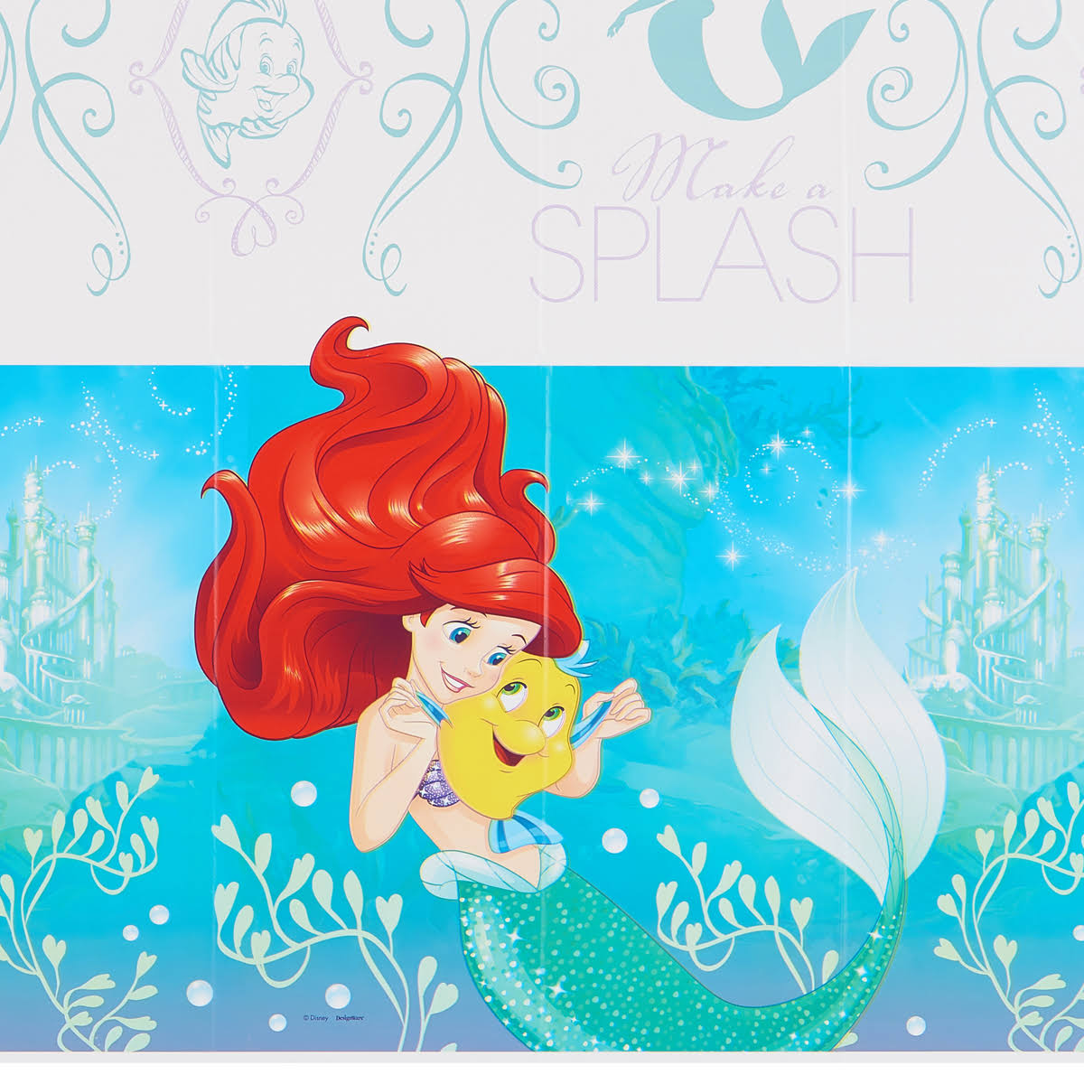 "American Greetings The Little Mermaid Plastic Table Cover - 54"" x 96"""