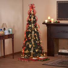 6 Foot Fully Decorated Red Gold Pull Up Tree By NorthwoodsTM