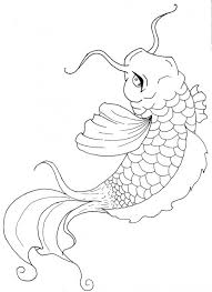 Coy Fish Coloring Pages