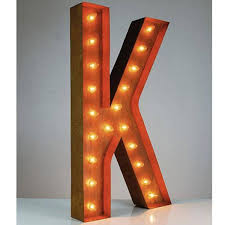 LED Marquee Letters Lights Vintage Alphabet Circus Style Light Up