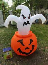Airblown Inflatable Halloween Yard Decorations by Inflatable Halloween Airblown Ghosts In Pumpkin Yard Decoration Ebay