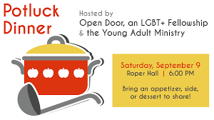 Open Door Fellowship and Young Adult Ministry Potluck – Episcopal