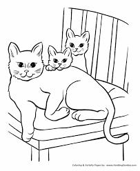 Pet Cat Coloring Page