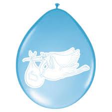 Geburt Ballons Klapperstorch Blau Luftballons 8 St Deko Taufe EBay