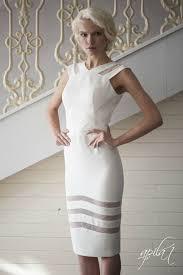Ivory Short Crepe Wedding Dress L4 Romantic Gown Classic Bridal