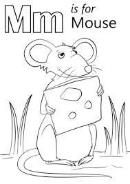 Click To See Printable Version Of M Is For Mouse Coloring Page