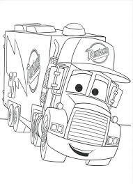 Download Print Coloring Pages Mack Truck Cars Picture Of Disney And Trucks Lightning Mcqueen 2