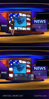 Animated Virtual News Set Newsroom Template Background Available For Immediate Download From Breaking
