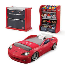step2 corvette toddler bed dresser organizer bundle sam s club