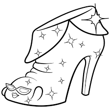 Limited Edition Shopkins Coloring Page Angie Ankle Boot