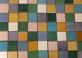 designing a multi colored tile wall