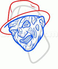 Printable Freddy Krueger Pumpkin Stencils by How To Draw Freddy Krueger Easy Step By Step Characters Pop