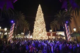 Fashion Island Christmas Tree Lighting With Disney Newport Beach California