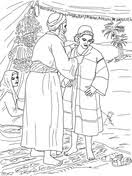 Jacob Giving Joseph The Coat Of Many Colors