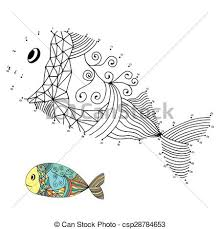 Clipart Vector Of Numbers Game Fish