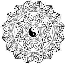 Mandala yin yang Mandalas Coloring pages for adults