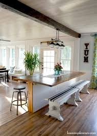 16 Sunroom And Dining Room Renovation Built In Table Made Of Reclaimed Wood