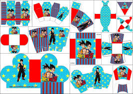 Dragon Ball Z Decorations by Dragon Ball Z Free Printable Boxes Oh My Fiesta For Geeks