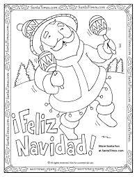 Feliz Navidad Printable Coloring Page Papa Noel Quiere Desearles Una More Fun Spanish ChristmasMerry