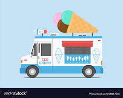100 Icecream Truck Ice Cream Truck Mobile Shop Royalty Free Vector Image